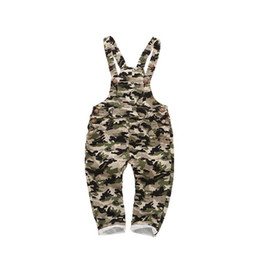 Wholesale boys bib overalls - New Spring Boys Clothes Baby Girl Summer Overalls Classical Camouflage Strap Cotton Romper Jumpsuit Toddler Overalls Bib Pants