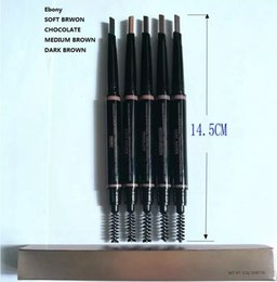 Wholesale soft eyebrow pencil - MAKEUP Double eyebrow pencil BROW PENCIL CRAYON EBONY SOFT BROWN DARK BROWN   MEDIUM BROWN chocolate b325