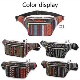 2019 цветные сумки для телефона Богемный талии пакеты 5 цветов женщины Fanny Pack карманный пояс сумка путешествия телефон сумка открытый Crossbody сумки для хранения 60 шт. скидка цветные сумки для телефона