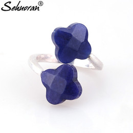 Wholesale Black Stone Jewellery - whole saleSehuoran Rings For Woman Adjustable New Vintage Wedding Rings Copper Round With Natural Stone Ring Anel Bijoux jewellery Gift