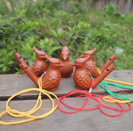 Canada Oiseau Forme Sifflet Céramique Arts Et Artisanat Creative Enfant Jouets Cadeau Eau Ocarina Vente Chaude SN1772 Offre