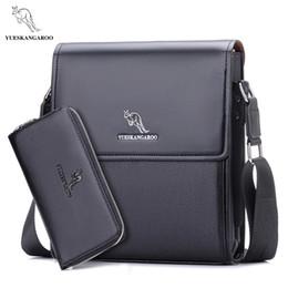 Uomini kangaroo a tracolla online-YUES KANGAROO uomo messenger bag uomo borsa in pelle designer famoso marchio spalla affari valigetta crossbody per