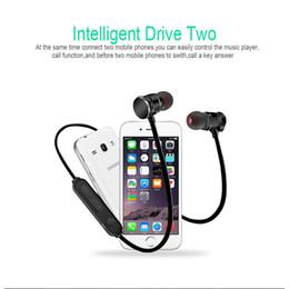 водонепроницаемые наушники bluetooth для наушников Скидка X3 Магнитный Bluetooth Наушники Наушники Водонепроницаемый Sweatproof Спорт Стерео Беспроводная Гарнитура Для Iphone X 6 7 8 Plus S8 Универсальный мобильный телефон