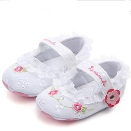 White lace flower girl shoes coupons promo codes deals 2018 baby first walkers toddler infant newborn baby girls princess lace shoes white flowers coupon mightylinksfo