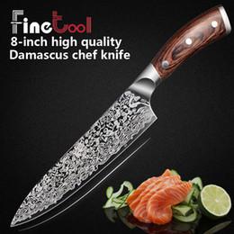 Cuchillo de cocina de 8 pulgadas Cuchillos de cocinero profesional japonés 7CR17 440C Carne Santoku Cuchillo Santoku de acero inoxidable con alto contenido de carbono desde fabricantes