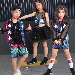 Hip-hop-tanzschule online-Hip-Hop Street Dance Kostüme Kinder neue Grundschule Kindergarten modernen Jazz Dance Performance Kleidung