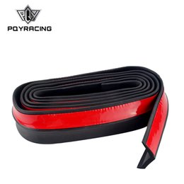 Tiras de pára-choque on-line-2.5 m / 8.2ft Car styling Car Bumper Tira De Borracha Bumper Tira 65mm de Largura Exterior Frontal Bumper Lip Etiqueta Do Carro Protetor Universal PQY-FBL11