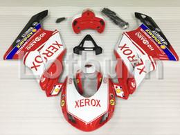 848 carenados online-Moto Kit de carenado de motocicleta de moldeo por inyección apto para Ducati 848 1098 1198 07-12 2007 - 2012 Carenado de carrocería por encargo A487