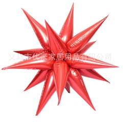 Wholesale Red Annuals - Party balloon light water droplets aluminum film market annual bar decorate Christmas star condole top explosion