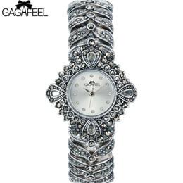 99a02104d630 100% 925 Reloj de plata esterlina de señora Women Thail Silver Reloj de  pulsera de cuarzo Reloj de plata reloj Mujer C18110201 barato reloj de ley  925
