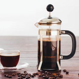 mão descarregada Desconto 350 ML Casa Francês Imprensa Aço Inoxidável Pote De Café Portátil Filtro De Chá Mão Flushing Chaleiras Cafeteira