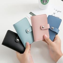 Rosa wallet koreanisch online-Japan und koreanischen stil frauen schlüsselmappen pu einfarbig leder innen schlüsselanhänger kartenhalter rosa schwarz blau himmelblau