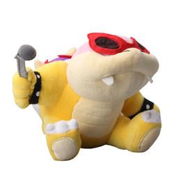 супер марио мягкие игрушки Скидка Новое прибытие 100% хлопок 22 см Super Mario Koopaling Roy Koopa плюшевые игрушки мягкие игрушки Детские подарок
