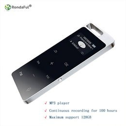 Wholesale walkman sports mp3 music player - MP3 Player 8GB 1.2 Inch Mini Walkman Touch Screen Sports MP3 Music Player Hifi Lossless LCD Color Display Long Recording