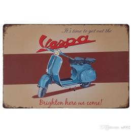 dessins de peinture de moto Promotion Vintage moto conception fer peinture locomotive style marée signe pour KTV et boîte de nuit décoration boîtes de conserve affiche facile porter 20 * 30 cm cc