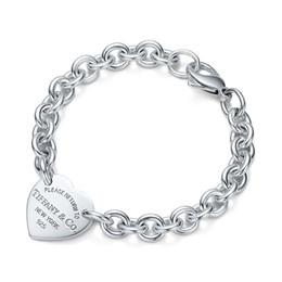 Argentina Alta calidad diseño de la celebridad de plata pulsera mujeres carta en forma de corazón pulseras joyas con caja cheap jewelry jade design Suministro