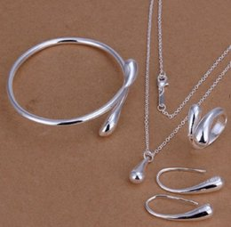 anel de esmeralda africano Desconto 925 gota de água pingentes gota de água gotas de água do parafuso prisioneiro brincos brincos / brincos / anel / pulseira conjuntos de jóias mulheres presente