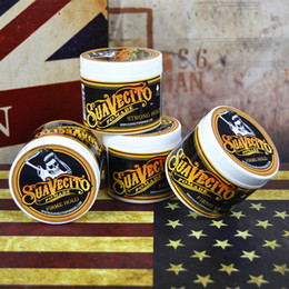 Wholesale Big Gels - 10pcs lot Suavecito Pomade Hair Gel 4oz 113g Strong Style Restoring Ancient Ways is Big Skeleton Hair Slicked Back Hair Oil Wax Mud