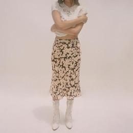 8b7c76989f 100% Silk Satin The Naomi - Flower Power Print Wild Side 3 4 Length Hidden  Elasticized High Waist Easy 90 s Women Slip Skirt