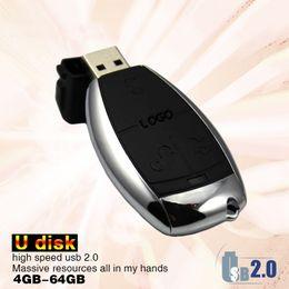 Wholesale usb flash keys - Creative Car Key Usb Flash Drive for Mercedes Benz 64GB Pen Drive Usb Memory Stick u47