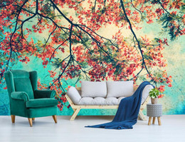 peacock wallpaper 3d Coupons - custom 3d mural wallpaper Peacock flower branch 3d wall murals 3 d Living room bedroom Background wall nonwoven wallpaper