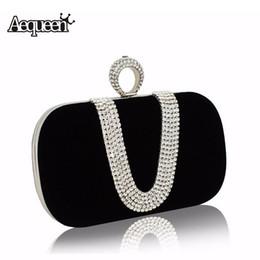 8047e75517 2019 borse pietra di cristallo Pochette da sera di cristallo di sera delle donne  di AEQUEEN