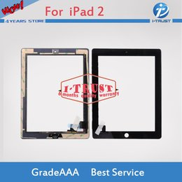 Wholesale Ipad2 Screen Replacement - For iPad 2 Touch Screen Digitizer with Home Buttom and Adhesive Assembly Glass Replacement Part for iPad White Black With Free DHL Shipping