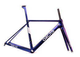 Wholesale China Carbon Fiber - 2018 new designed carbon frame Changing color High Quality light T1000 fiber Carbon Road Frameset,road racing bike in China