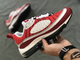 sneakers for cheap e3c6c 37caf 98 OG Gundam Rot Blau Kugel 98 QS Schuhe Herren Sneakers Weiß Laufschuhe  Mode Retro Marke Sport 98s Turnschuhe Größe 7-11 retro 11 white blue Outlet