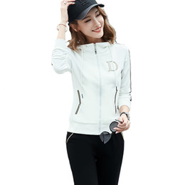 35ec197bae85 Plus Size Full Zip Hoodies For Women Outdoor Running Pants Two Piece Sport  Clothes 15816 Fashion Street Clothing For Women 4 Colors Outfits