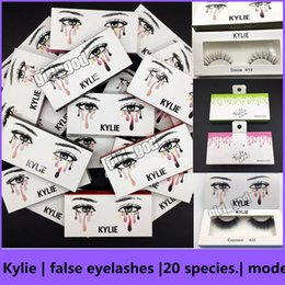 Wholesale Models Hair Extensions - .2017new kylie False Eyelashes 20 model Eyelash Extensions handmade Fake Lashes Voluminous Fake Eyelashes For Eye Lashes Makeup Free shippin