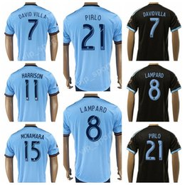 Wholesale Mix Shirt - New York City Soccer Jersey 2017 2018 FC 21 Andrea Pirlo Football Shirt Kits 7 David Villa 8 Frank Lampard 15 NYCFC 11 HARRISON 10 MIX