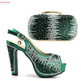 Wholesale Italian Style Shoes Women - 2018 Hot Selling Woman Shoes And Bags Set For Party Italian Style Ladies Woman Shoes And Purse Set JJC1-12