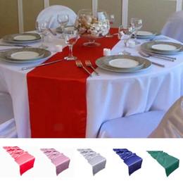 30x275 cm Long Runner Table Royal Blue Red Rose Vert Bleu Argent Table Tissu Coureurs De Mariage Faveur Décorations De Fête Drapeau ? partir de fabricateur