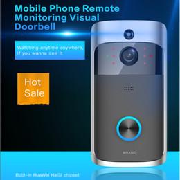 Wholesale Door Phone Doorbell Wireless - D06 Wireless Doorbell HD 720P WIFI Video Doorbell Night Vision Motion Detection Alarm Door Phone Visual Intercom Doorbell Camera ann