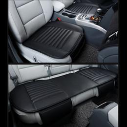 Canada Tapis de protection en cuir respirant universel pour 3D housse de siège en cuir pour siège auto siège arrière couverture 3PCS cheap auto leather seat pad Offre