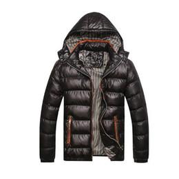 2019 chaqueta térmica de moda para hombre Asstseries New Men Chaqueta de invierno Moda con capucha térmica abajo de algodón Parkas Casual para hombre sudaderas con capucha ropa de marca abrigo cálido rebajas chaqueta térmica de moda para hombre