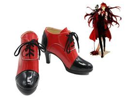 Grell Sutcliff Cosplay Chaussures à talons hauts Chaussures de Halloween unisexes rouges ? partir de fabricateur