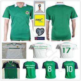 Wholesale Ireland Soccer Jersey - 2018 World Cup Northern Ireland Soccer Jersey 8 DAVIS 10 K.LAFFERTY 5 J.EVANS 17 McNAIR Custom Home Green White Football Shirt