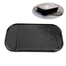 3 teile / los Heißer Verkauf Schwarz Kunststoff Schaum Nicht Rutsch Dash Mat Aufkleber Dash Silikon Auto Matte Dashboard Klebrigen Pad Für Telefon GPS # HP von Fabrikanten