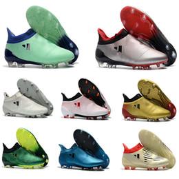 Homens sapatos de futebol de interior on-line-Cheaps Sapatos de Futebol Sapatos de Futebol x17.1 Purechaos FG TF IC Botas De Futebol Ao Ar Livre Dos Homens Futsal Chuteiras De Futebol Indoor Calçados Esportivos de futebol