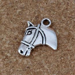 Bijoux tête de cheval en Ligne-Tête de cheval Charms Pendentifs 100Pcs / lot 15.5x21mm Bijoux de Mode En Argent Antique DIY Fit Bracelets Collier Boucles D'oreilles