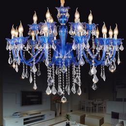 kronleuchter für wohnzimmer schlafzimmer Rabatt Neue Moderne Blaue kristall kronleuchter LED deckenleuchte für wohnzimmer Schlafzimmer innen lampe K9 kristall lustres de teto kronleuchter
