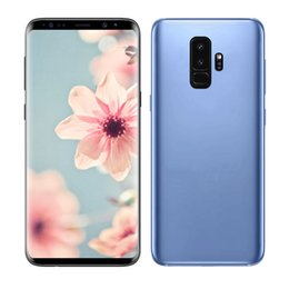 Wholesale New Wifi Cell Phones - New 6.2inch Goophone S9 plus MT6580P Quad Core cell phones MT6580P 1G 8G with Real Fingerprint Unlocked Smartphones