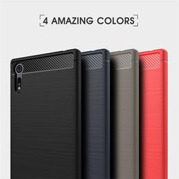 Cubierta de la caja del diseño de la fibra de carbono de TPU con el marco de parachoques para Sony Xperia XA1 XZ XZ1 XZS Plus Ultra Premium Compact desde fabricantes