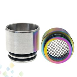 steel netting Promo Codes - 810 Anti-fried Oil Drip Tip with Filter Net Rainbow Stainless Steel Wide Bore Mouthpeice fit TFV12 Prince TFV8 Big Baby DHL Free