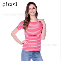 2669330d15d Fashion pregnancy Maternity Clothes Maternity Tops T-shirt Breastfeeding  shirt Nursing Tops for pregnant women Striped tops wear nursing clothing  for ...