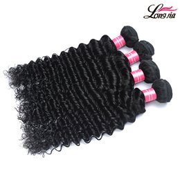 Wholesale Indian Wavy - Cheap Brazilian Human Hair Weave Grade 7A Bundle Deals,Brizilian Deep Wavy Hair,Longjia Hair Products Deep Wave Brazillian Hair100g pcs