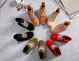 Wholesale martin ankle - 2018 spring new children's Martin boots wild cotton boots boots girls with beef bottom boys shoes winter wholesale