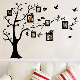 Carteles del festival online-Etiqueta de la pared desprendible Árbol de fotos estético Sala de estar Dormitorio Ventana Calcomanía Vintage Diy Mural Poster Home Decor 3 4fx gg